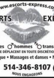 Escorts Express – 24H 7/7 – 514 346-8107